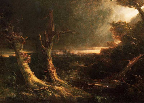 A Tornado In The Wilderness 1835 by Thomas Cole