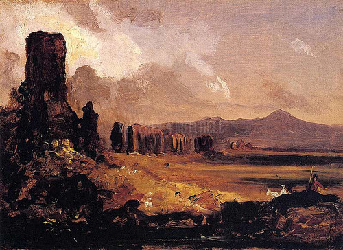 Campagna Di Roma Study For Aqueduct Near Rome 1832 by Thomas Cole