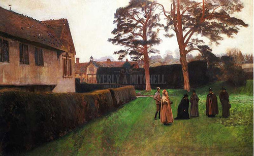 A Game Of Bowls Ightham Mote Kent by John Singer Sargent
