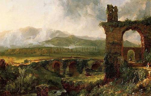 A View Near Tivoli Morning 1832 by Thomas Cole
