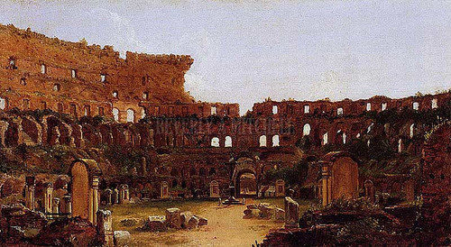 Interior Of The Colosseum Rome 1832 by Thomas Cole