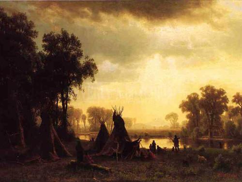 An Indian Encampment by Albert Bierstadt