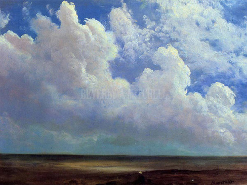 Beach Scene by Albert Bierstadt
