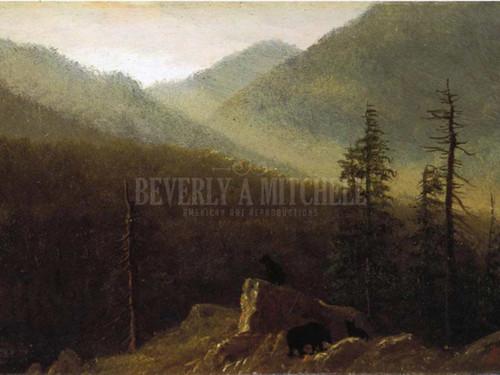 Bears In The Wilderness by Albert Bierstadt