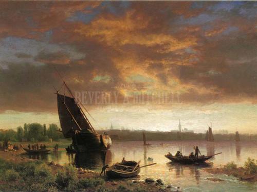 Harbor Scene by Albert Bierstadt