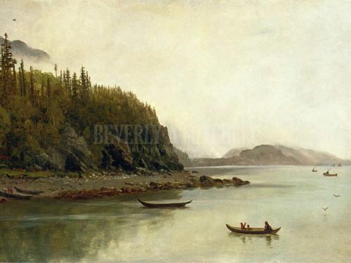 Indians Fishing by Albert Bierstadt
