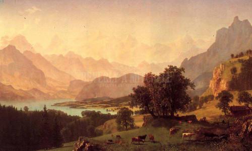 Bernese Alps by Albert Bierstadt