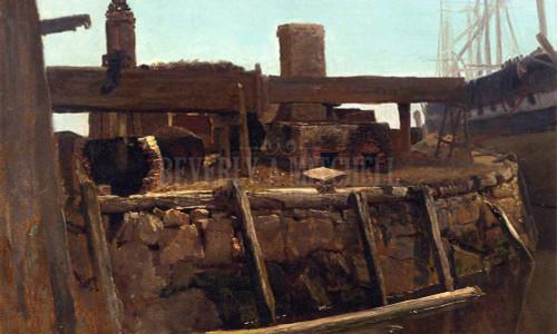 Wharf Scene by Albert Bierstadt