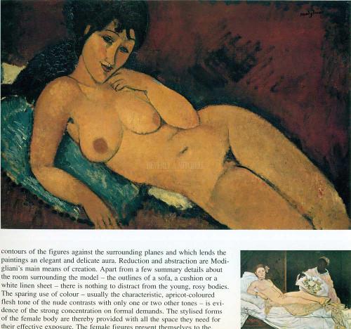 Nude On A Blue Cushion 1917 by Amedeo Modigliani