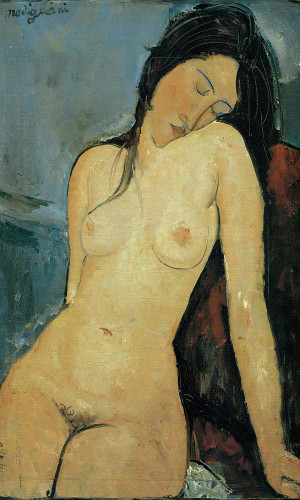 Female Nude 1916 by Amedeo Modigliani