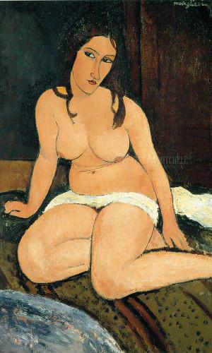 Seated Nude 1917 by Amedeo Modigliani