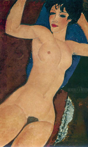 Sleeping Nude With Arms Open 1917 by Amedeo Modigliani