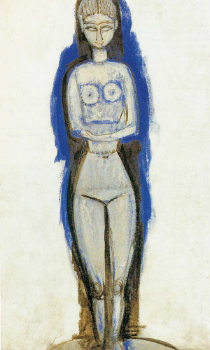 Standing Nude 191112 by Amedeo Modigliani