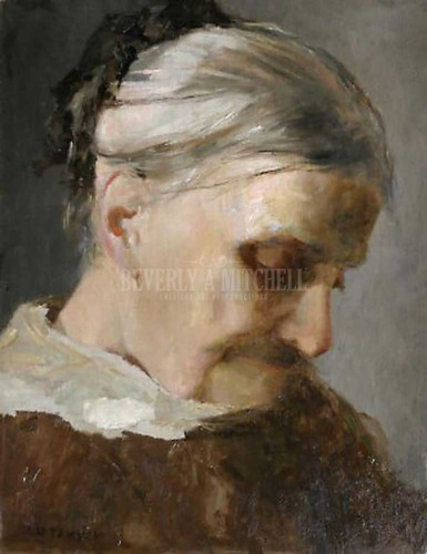 A Study Of An Old Woman by Abbott Handerson Thayer