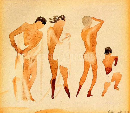 Semi Nude Figures by Charles Demuth