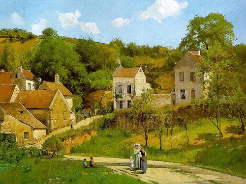 The Hermitage At Pontoise by Camille Pissarro