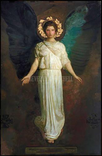 A Winged Figure by Abbott Handerson Thayer