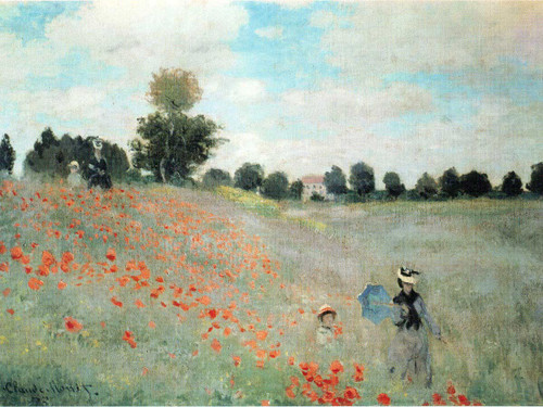 Poppies At Argenteuil by Claude Monet