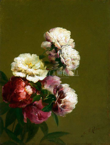 Peonies In A Bowl by Charles Ethan Porter