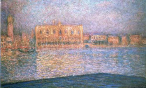 Le Palais Ducal Vu De Saint George Majeur by Claude Monet