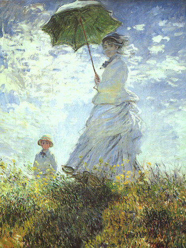 Woman With A Parasol by Claude Oscar Monet