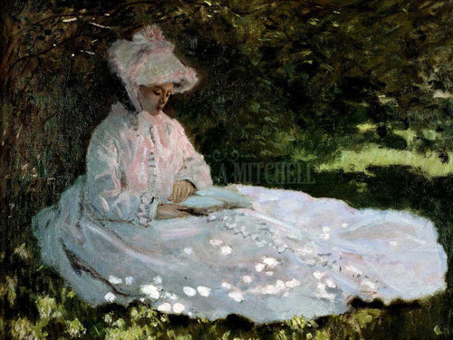 A Woman Reading by Claude Oscar Monet