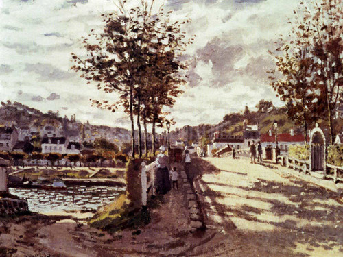 The Seine At Bougival by Claude Oscar Monet