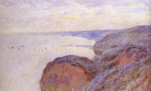 Cliffs Near Dieppe by Claude Oscar Monet