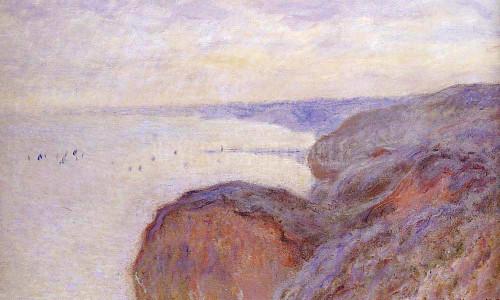 Cliffs Near Dieppe by Claude Oscar Monet
