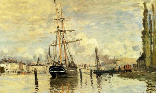 The Seine At Rouen by Claude Oscar Monet