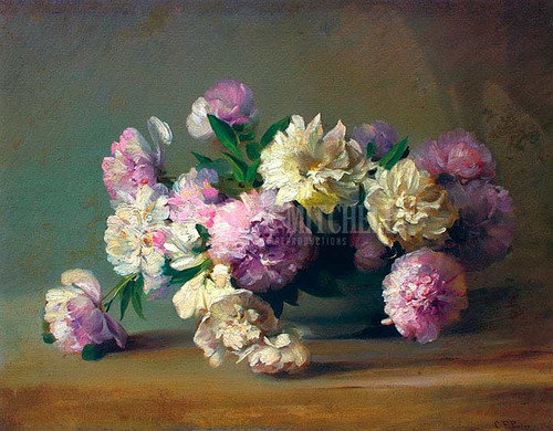 Peonies In A Bowl 2 by Charles Ethan Porter