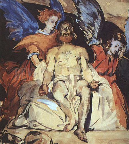 Christ With Angels by Edouard Manet