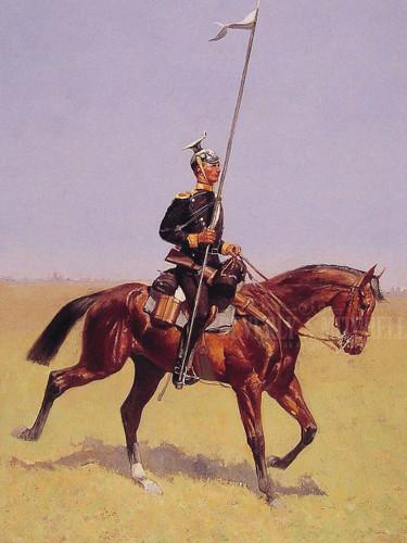 Uhlan (Lancer) by Frederic Remington