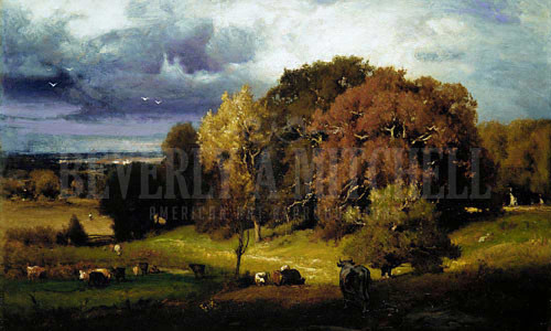 Autumn Oaks by George Inness
