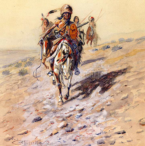 On The Trail by Charles Marion Russell
