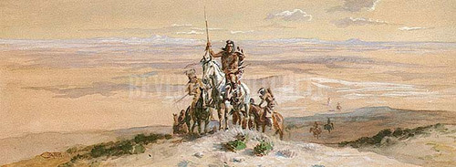 Indian War Party 2 by Charles Marion Russell