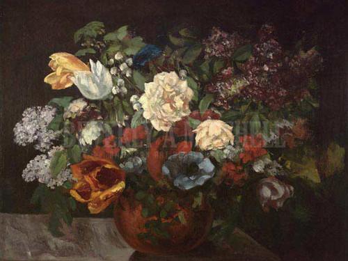 Bouquet De Fleurs by Gustave Courbet