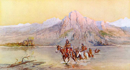Crossing The Missouri #1 by Charles Marion Russell