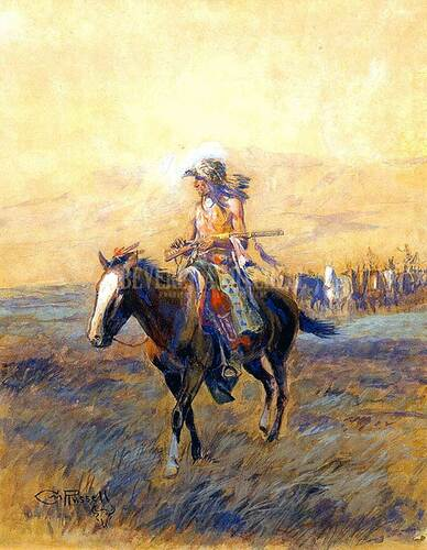 Cavalry Mounts For The Brave by Charles Marion Russell