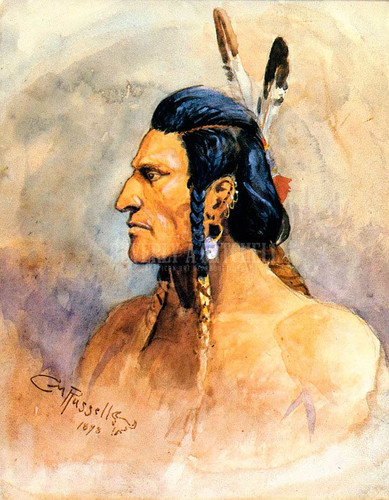 Indian Brave by Charles Marion Russell