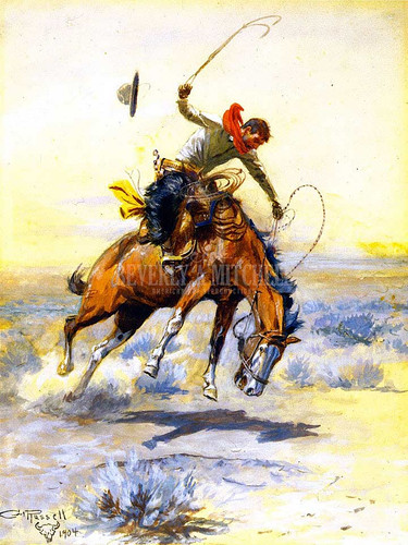 The Bucker by Charles Marion Russell
