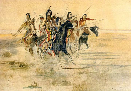 Indian Hunt by Charles Marion Russell