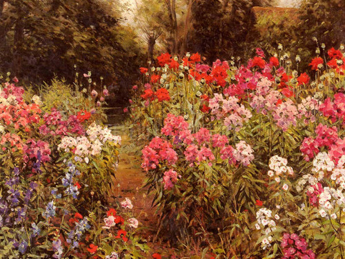 A Flower Garden by Louis Aston Knight