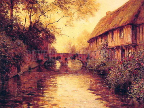 Houses By The River by Louis Aston Knight