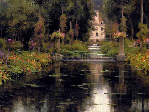 View Of A Chateaux by Louis Aston Knight