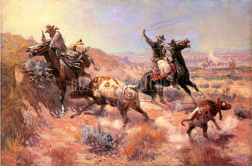 A Serious Predicament by Charles Marion Russell