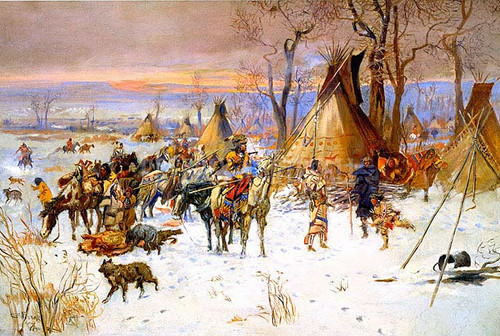 Indian Hunters Return by Charles Marion Russell