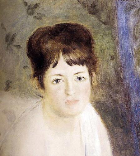 Head Of A Woman by Pierre Auguste Renoir