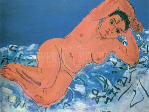 Large Blue Nude by Raoul Dufy