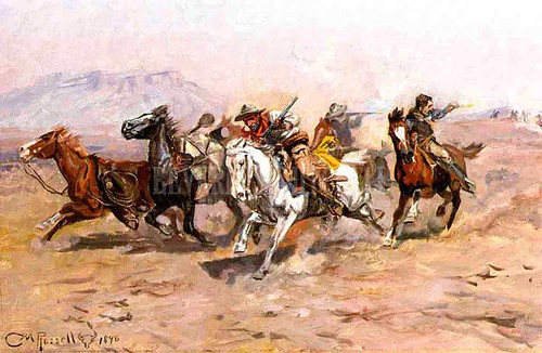 Outnumbered by Charles Marion Russell